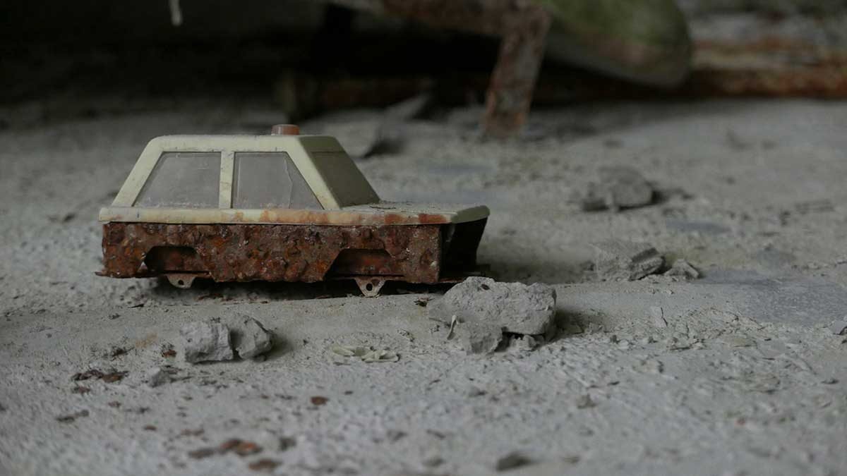 Toy car found in Pripyat