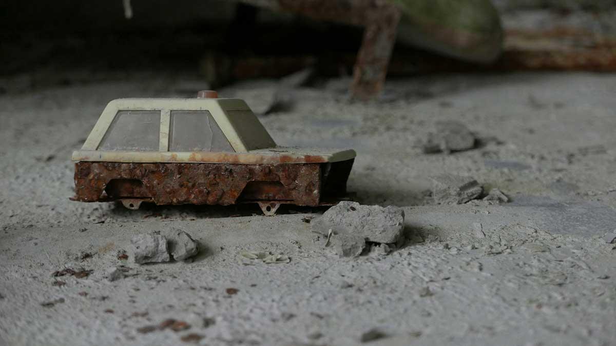 Toy car found in Pripyat