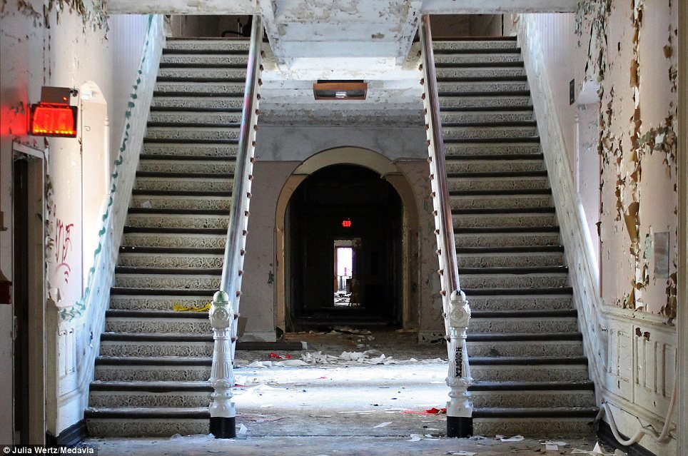 Greystone Park Psychiatric Hospital In New Jersey - Staircases