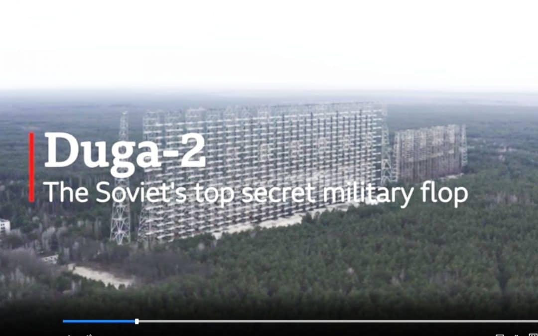 Aerial View of Duga Radar System in Chernobyl